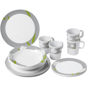 Brunner Melamine Set de platos, design tulip
